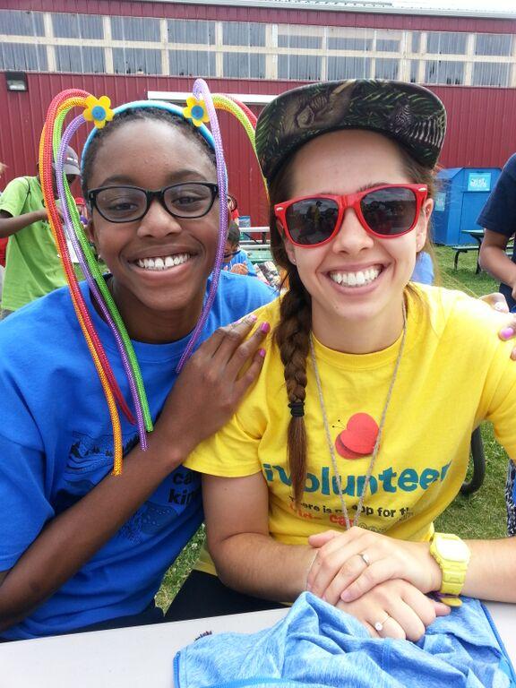 <p>volunteer at camp</p>
